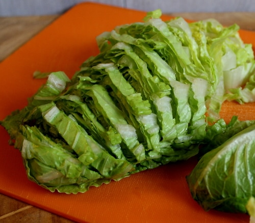 sliced lettuce